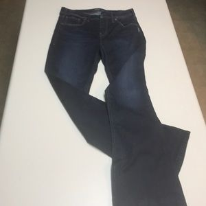 Silver fitted bootcut jeans